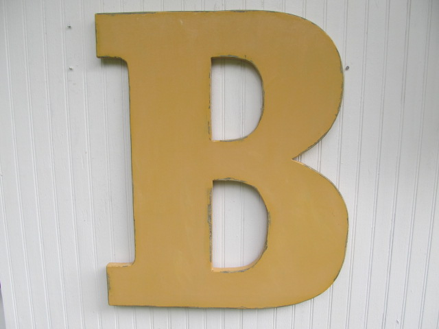 Hand Making Large Wood Alphabet Letters For Wall Decorations ...