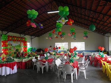 Festa decorada-Tema Jardim