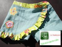 jupe short skort lin coton