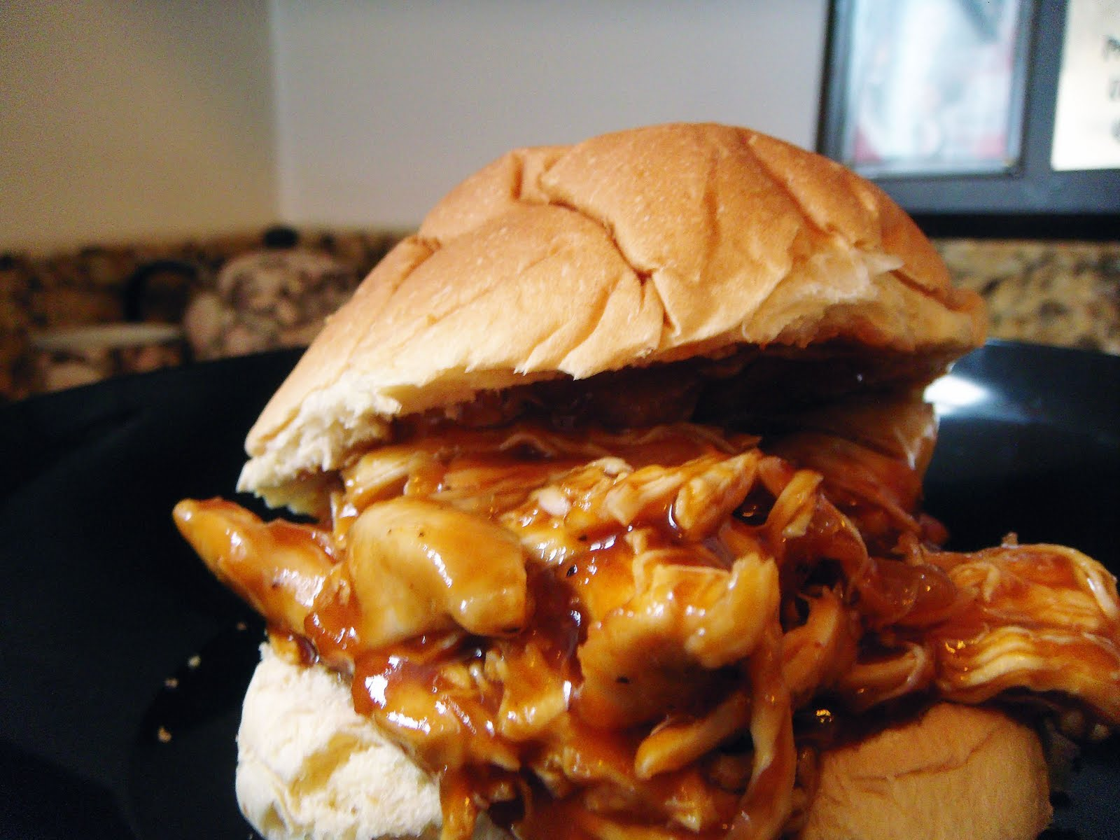 bbq pulled chicken pulled chicken sammie shredded saucy bbq chicken ...