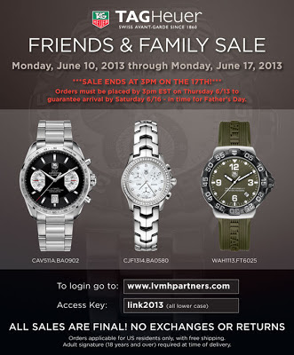 LVMH Tag Heuer Friends & Family Sale