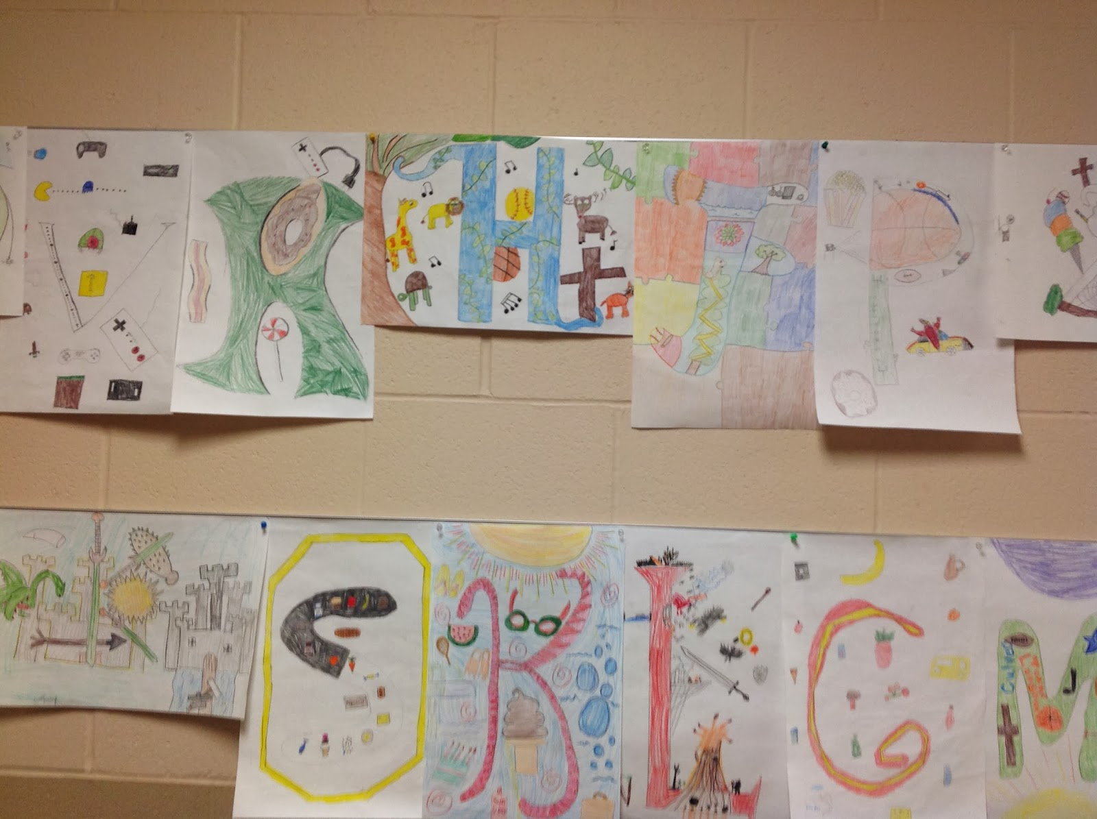 5th Grade Illuminated Letter Drawing