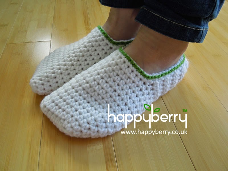 Happy Berry Crochet How To Crochet Simple Adult Slippers For Men