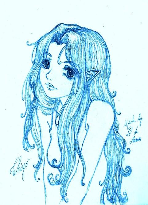 Peek-a-boo into Nyanko's room~ Chiyo+Blue