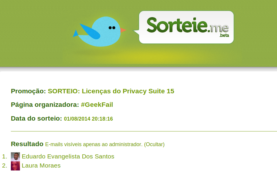 sorteio licencas steganos privacy suite 15 geek fail