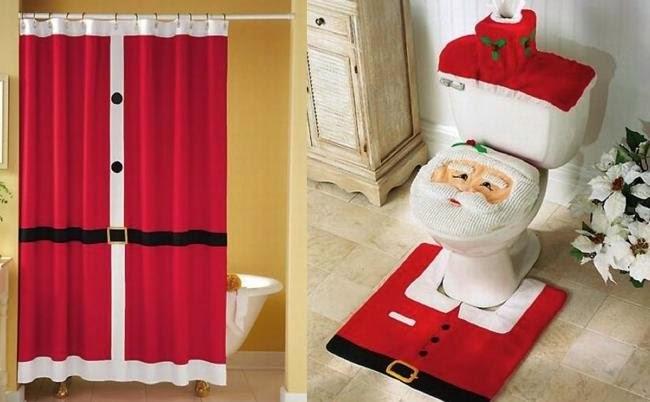 Juegos De Baño De Navideno Paso A Paso: forros navideños para baños – Especial de Navidad 2016