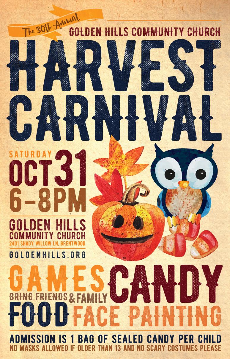 Tyler Adams Design: A Graphic Design Blog: Harvest Carnival Poster