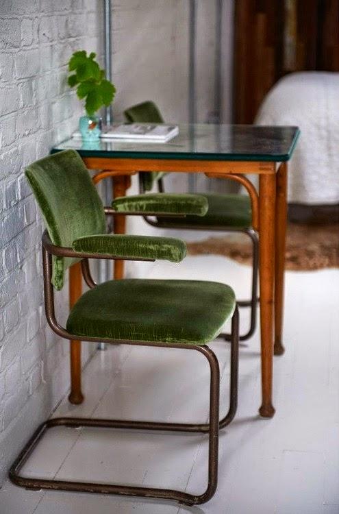 green,vert,monday,déco,chaise,velours