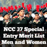 NCC 37 Special Entry Merit List Men and Women