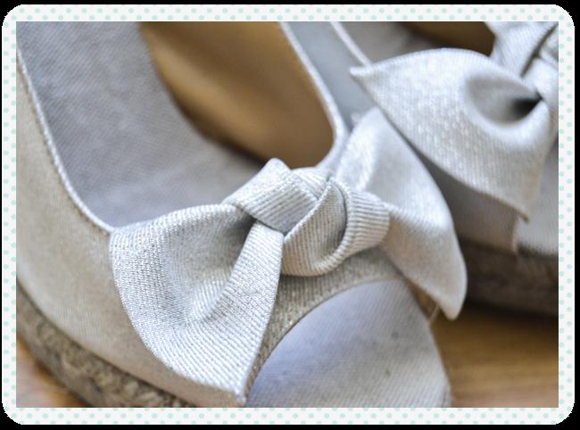 lazo novia zapatos alpargatas castañer