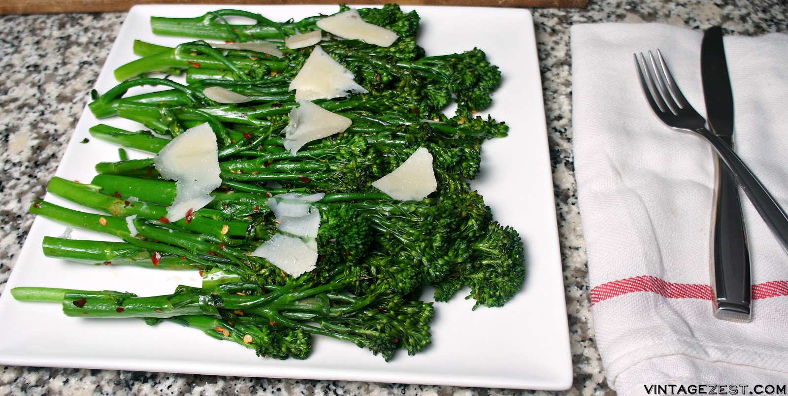 Easy Grilled Broccolini Recipe on Diane's Vintage Zest!  #ad #NestleHoliday