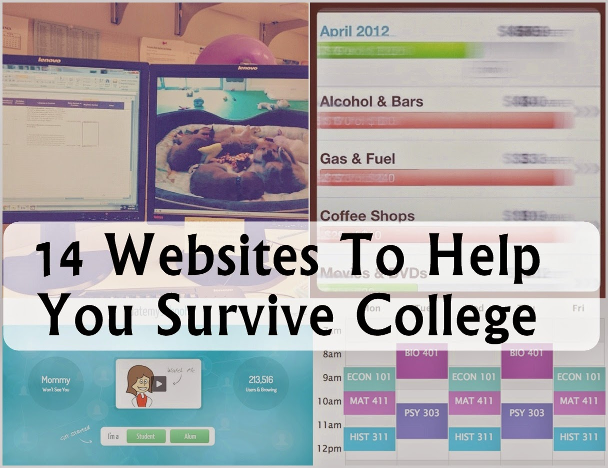 14 Websites To Help You Survive College