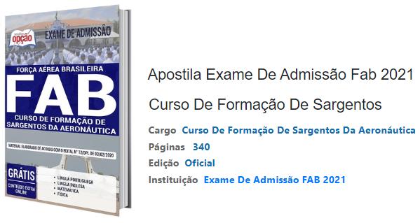 Apostila Exame De Admissão FAB 2021