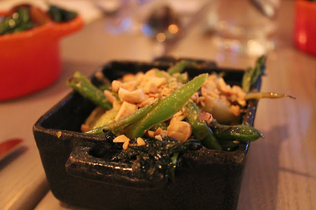 Bok choy and green beans at Tavern Road, Boston, Mass.
