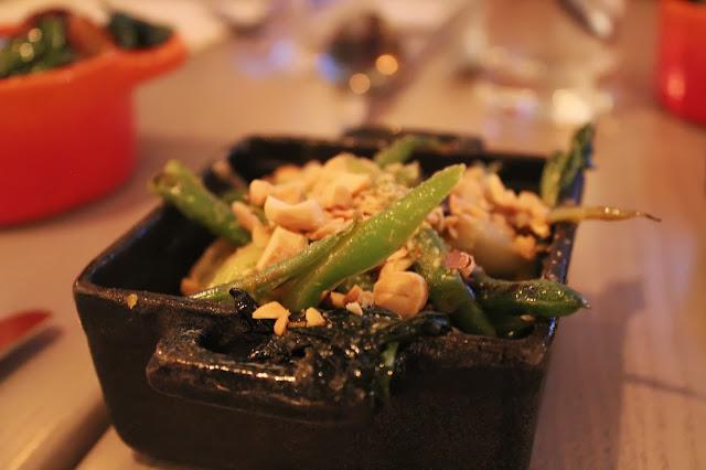 Bok choy and green beans at Tavern Road, Boston, Mass.