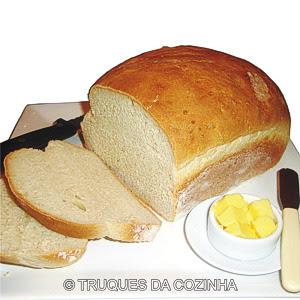 Pão caseiro fatiado