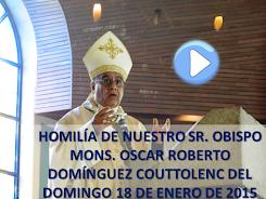 VIDEO DE LA HOMILÍA DEL SR OBISPO, DEL DÍA 18 DE ENERO DE 2015