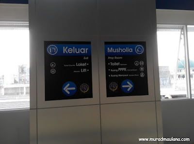 Petunjuk Rambu Stasiun Commuter Line Baru Palmerah