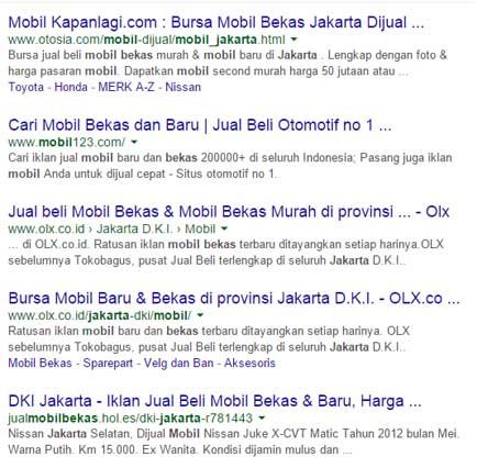 Website Mobil Bekas Jakarta