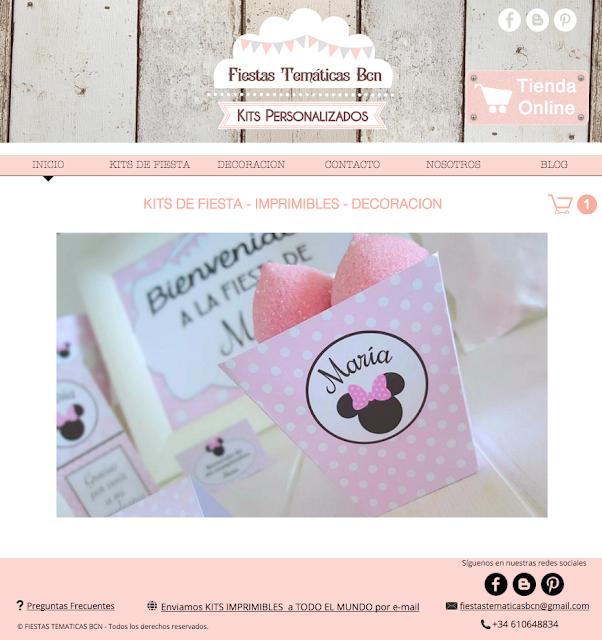 Tienda online kit fiesta imprimibles