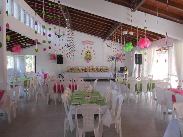 Decoracion Primera Comunion Virgen De Guadalupe ~   Medellin  Decoracion con globos fiestas infantiles Medellin