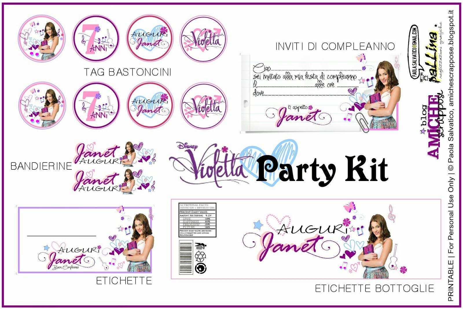 Famoso AMICHE SCRAPPOSE: Violetta Party XE66