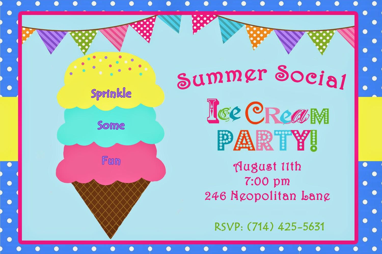 Invite and Delight: Summer Social: Ice Cream Party