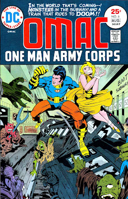 Omac v1 #6 dc bronze age comic book cover art by Jack Kirby