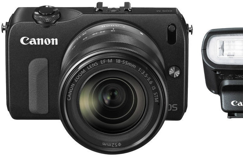Canon EOS M 18.0 MP Compact Systems Camera EF-M 18-55mm IS STM Lens & Flash Kit