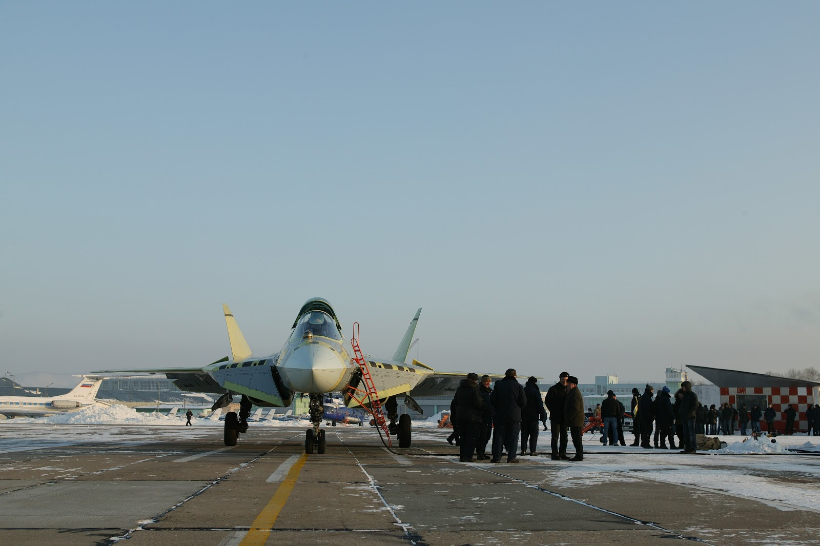 Photos of Maiden Flight Of The Fourth T-50 PAK-FA Prototype ...