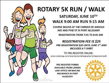 6-10 Rotary 5K Run/Walk
