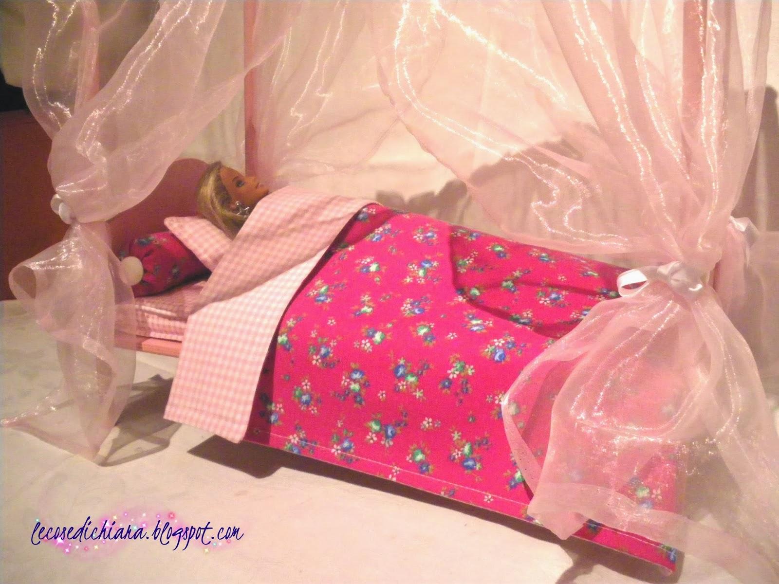 lecosedichiara: tutorial il letto a baldacchino di barbie - Camera Da Letto Di Barbie