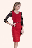 rochie-office-Elegancy Red