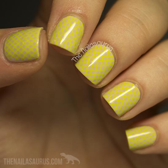 31dc2013 Day 3 Yellow Nails The Nailasaurus Uk Nail Art Blog