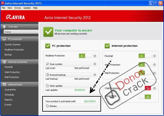 ����� Avira Internet Security 2012=���� ��� 17 ������ 2013
