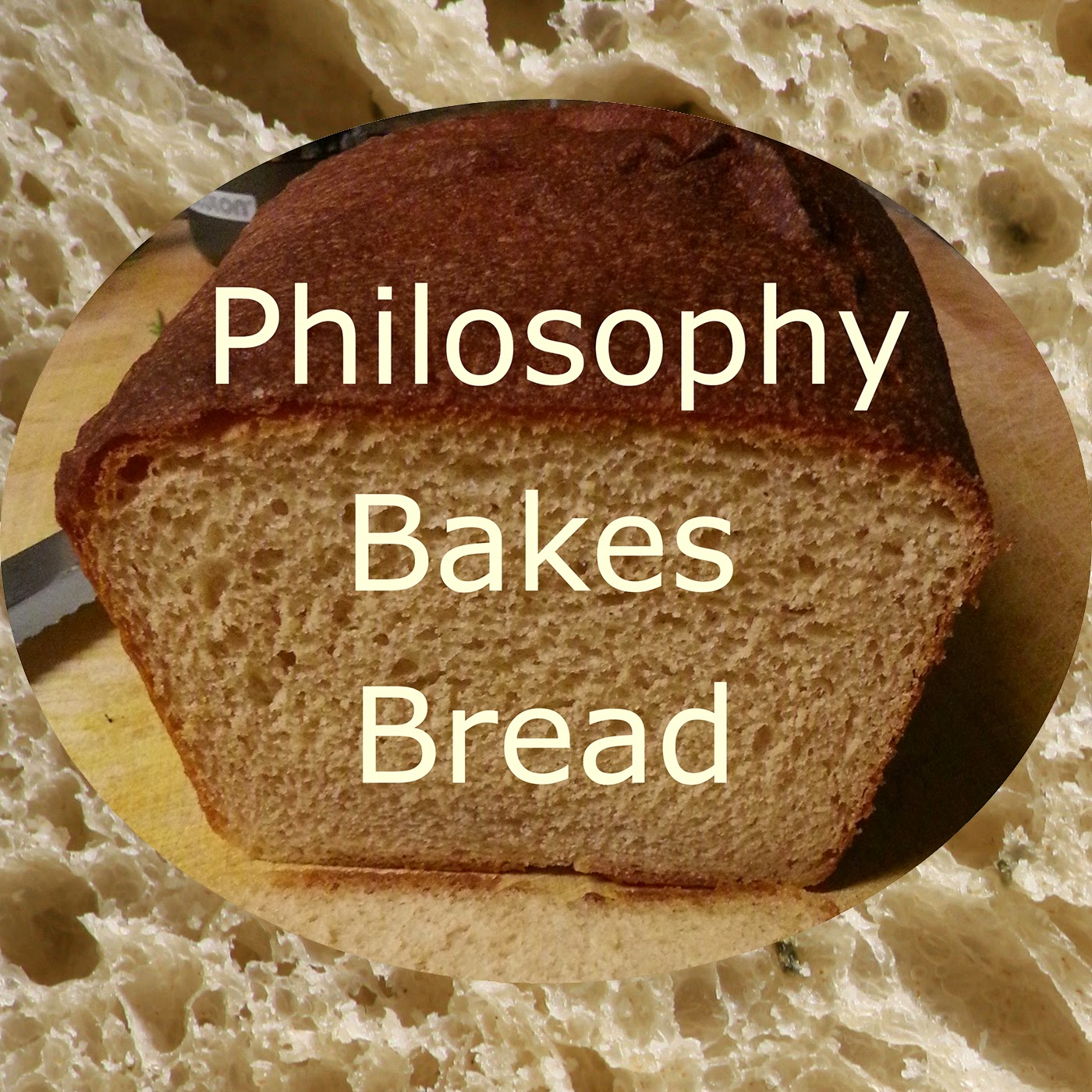 Initial logo for the Philosophy Bakes Bread podcast - a loaf of bread.