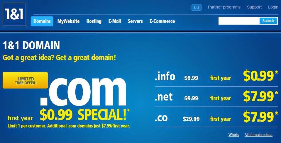 1and1.com offers
