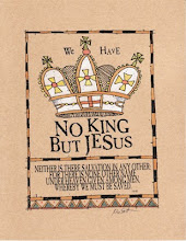 NO KING BUT JESUS FRAKTUR