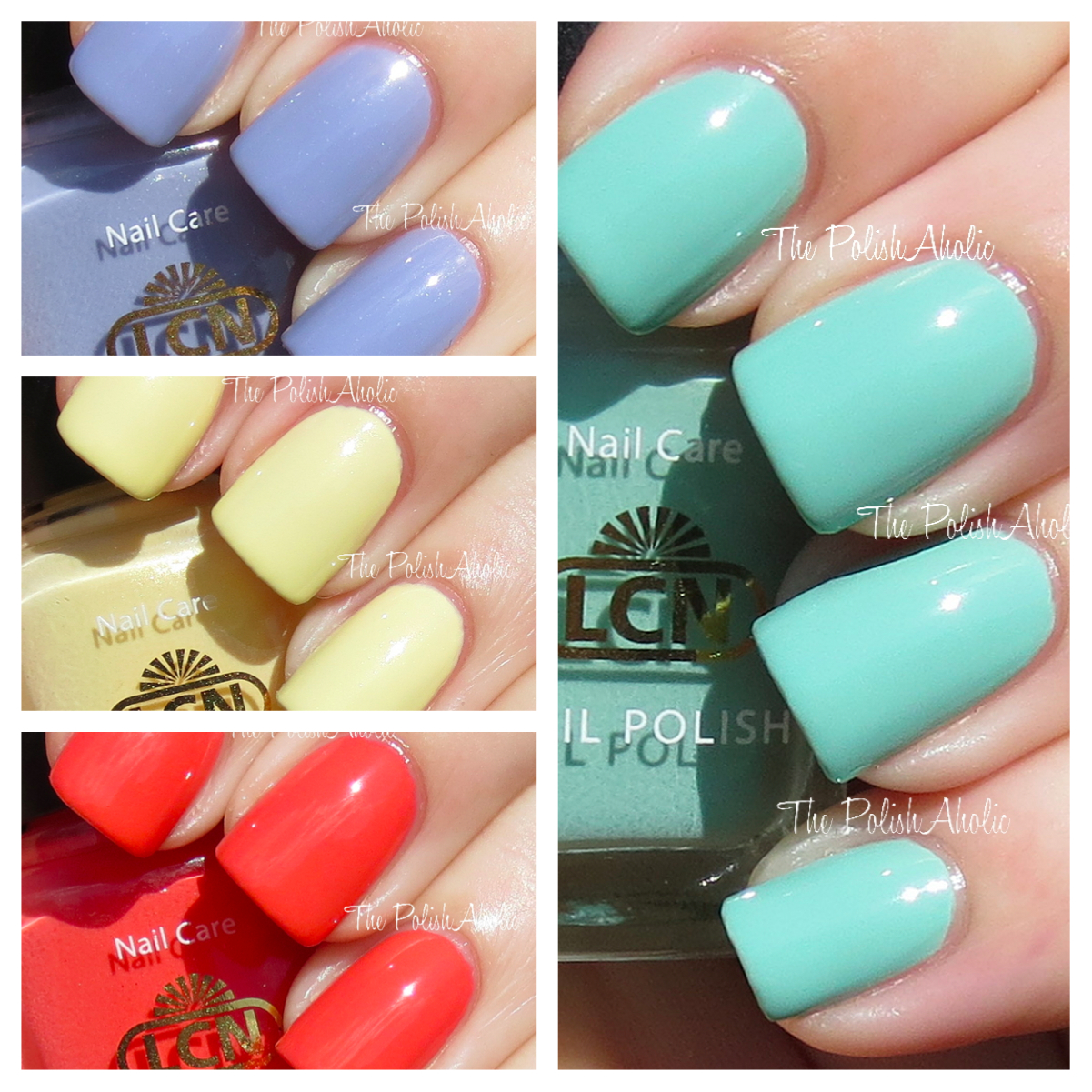 The PolishAholic: LCN Spring 2013 Blossom Sorbet Collection Swatches