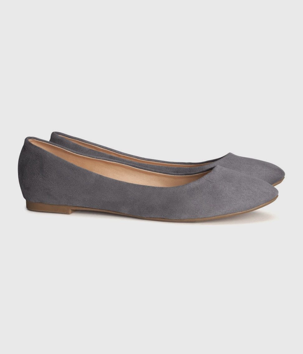 grey suede flats
