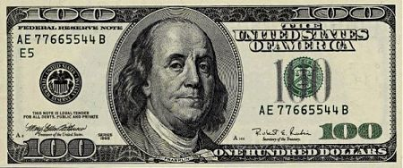 What are some facts about the one hundred dollar bill?