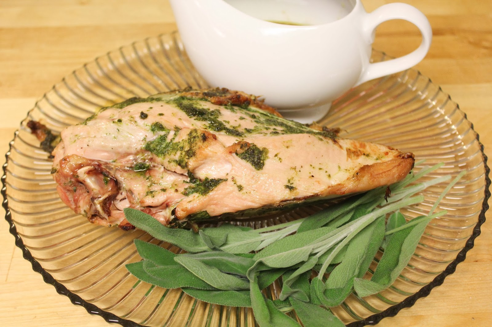 The No Pressure Cooker: Herb Rubbed Turkey with Apple Cider Gravy