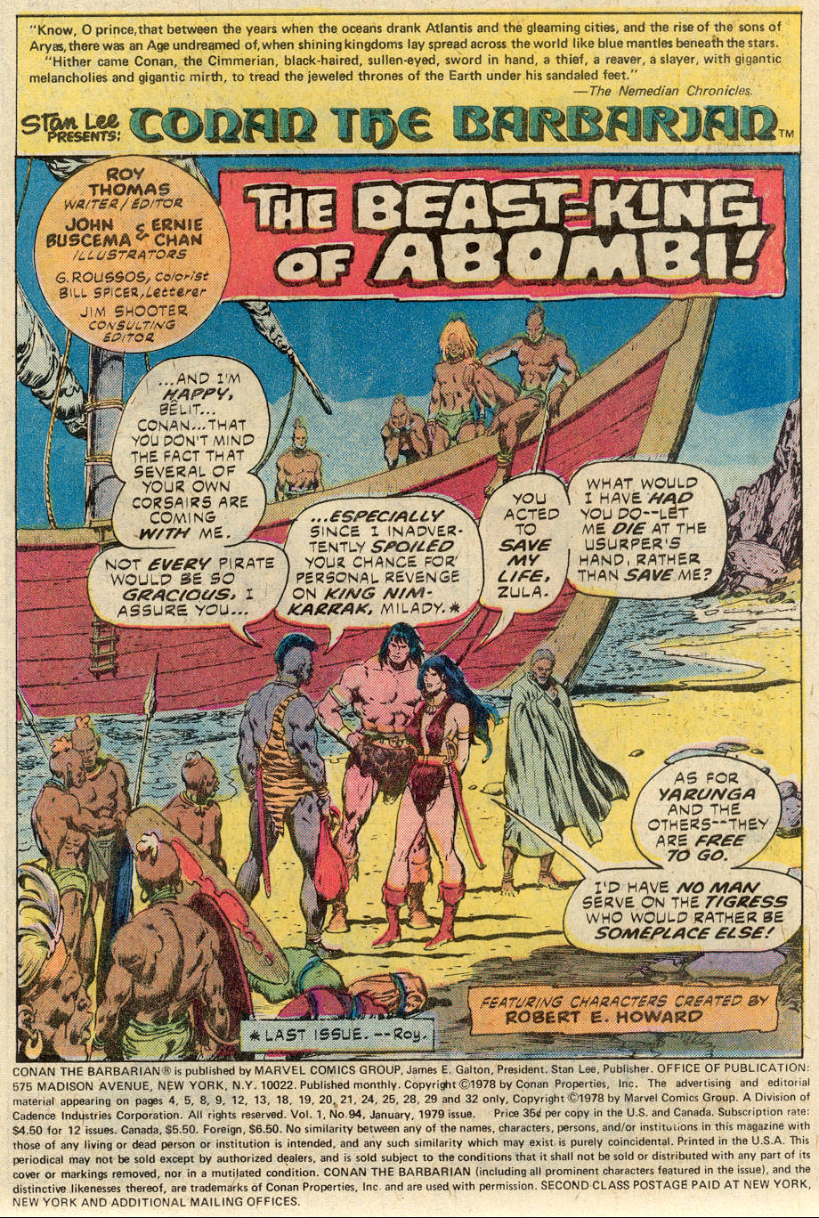 Conan the Barbarian (1970) Issue #94 #106 - English 2