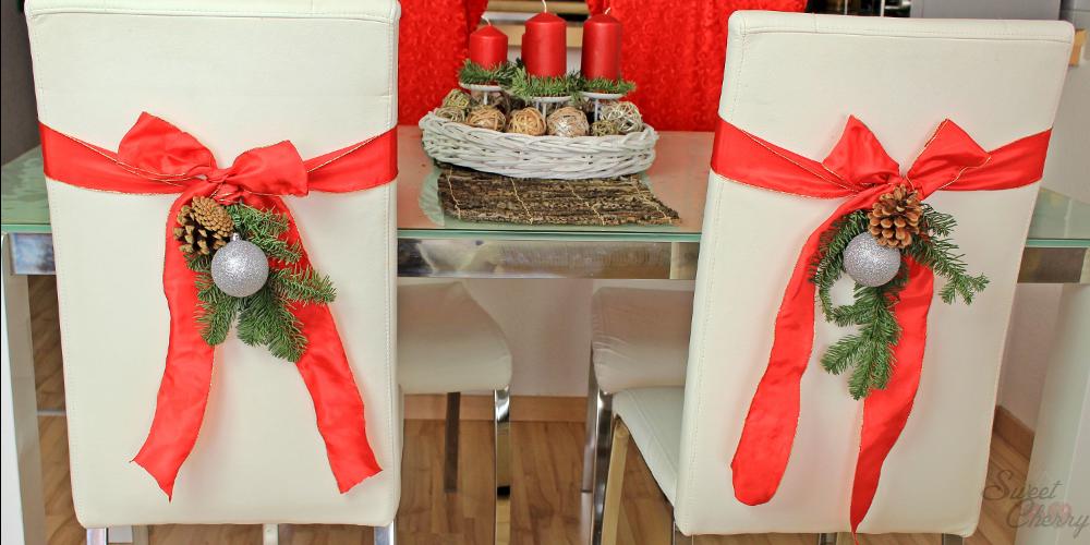 diy stuhldekoration weihnachten sweet cherry beauty blog. Black Bedroom Furniture Sets. Home Design Ideas