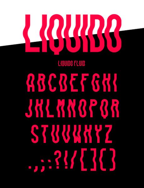 Liquido font