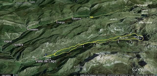 Mapa 1 Ruta Valle del Lago - ortográfico