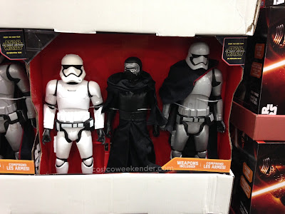 Take a little bit of the new Star Wars movie home with you with The Force Awakens action figures