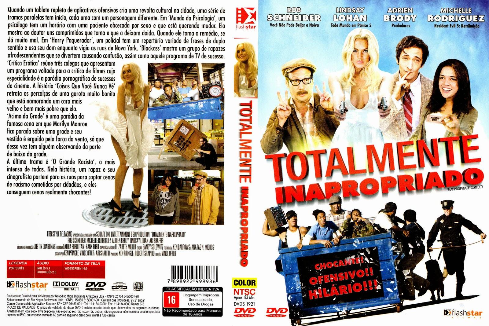 Capa DVD Totalmente Inapropriado
