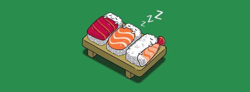 3 Sushi Sleep On Bed