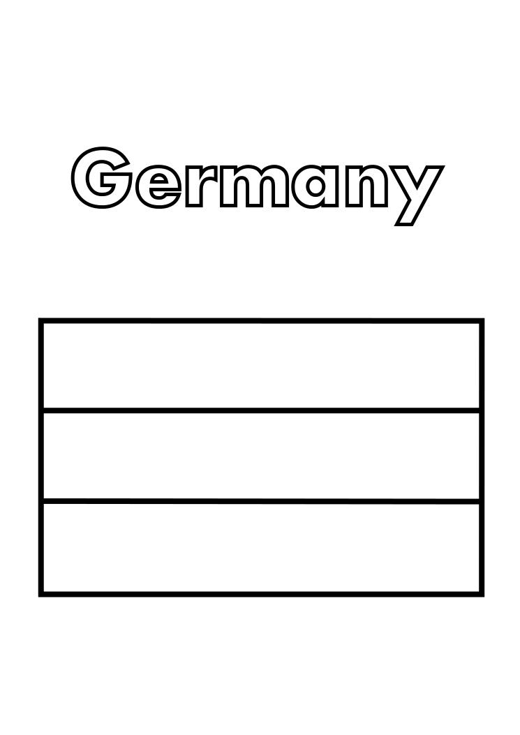 Germany Flag Coloring Coloring Pages Of In Germany